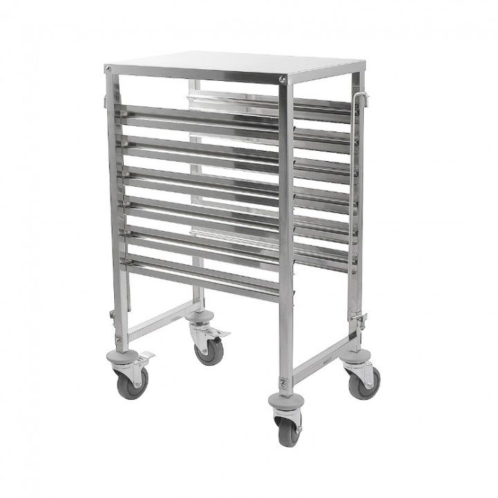 GN CONTAINER TROLLEY SS 6TRAYS