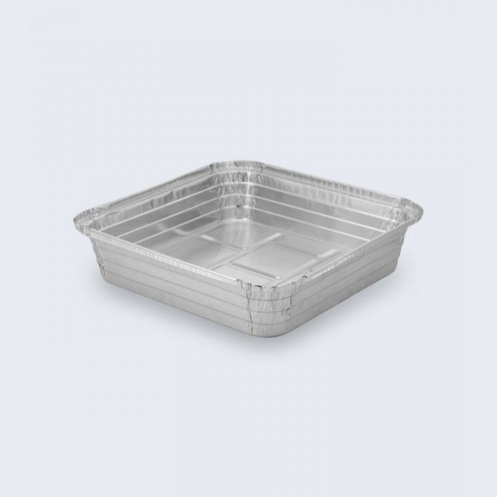 Conjunto 100 caixas quadradas Aluminio 2250ml