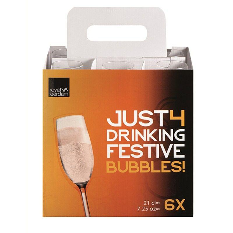Conj. Flutes 21cl Bubbles Just4 R617245d