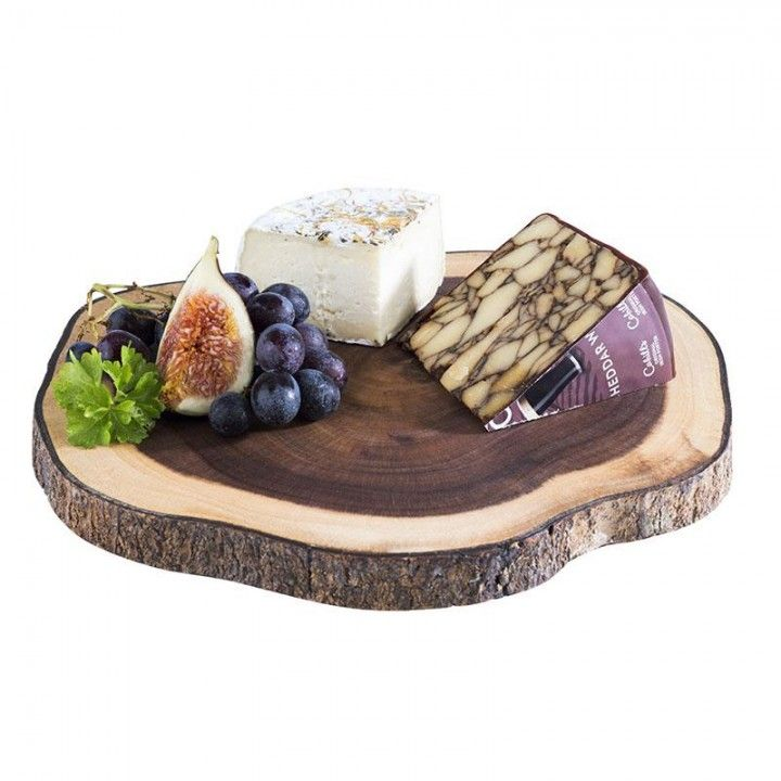 Wood oval plater 26X24X2CM 00895
