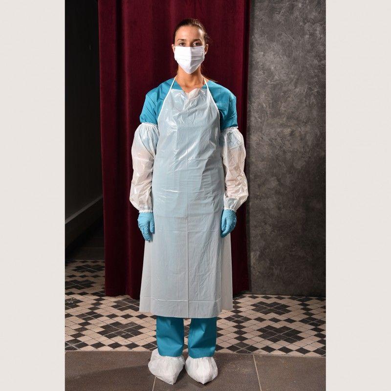 CONJ.10 Avental Reutilizável Napa Hospitalar