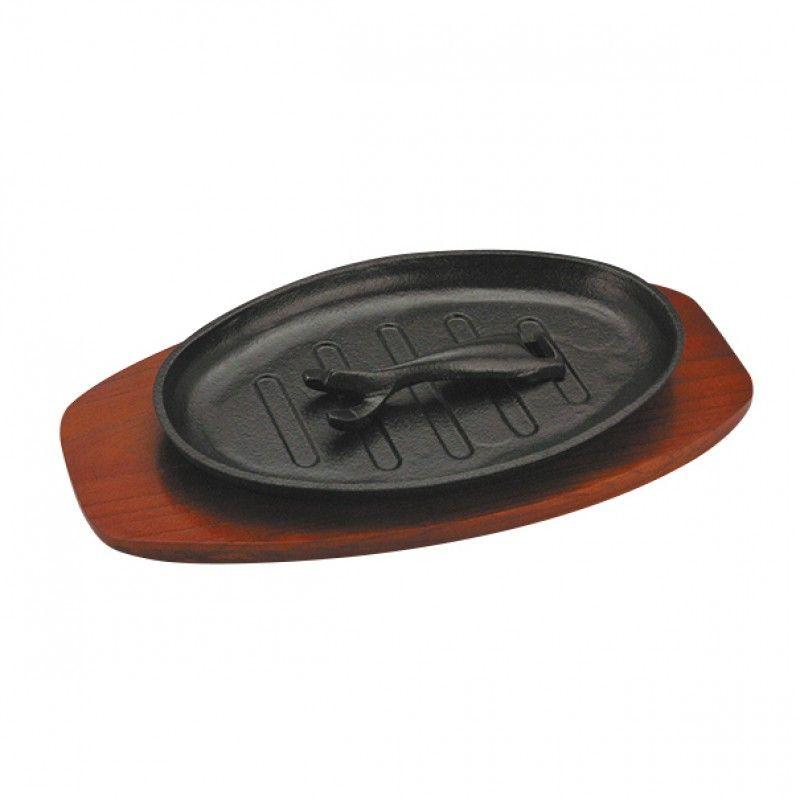 Sizzler platter oval 24CM cast iron M7112