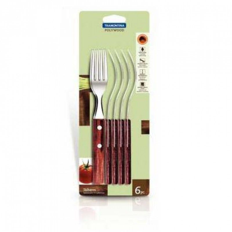 PACK 6 FORKS POLYWOOD 21102/670