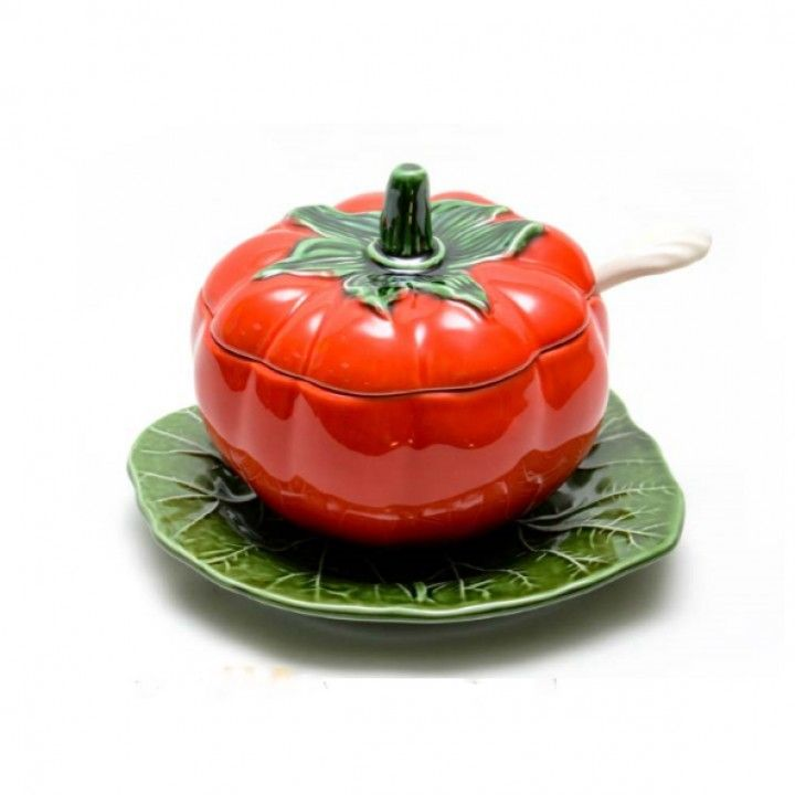 Acucareiro Tomate C/Colher C/Prato 708