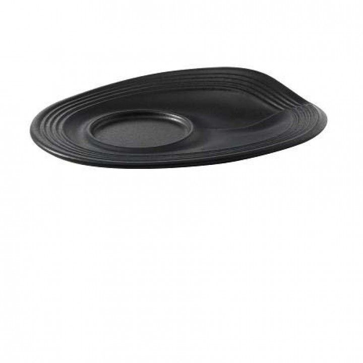 SAUCER FOR COFFE CUP BLACK 002562