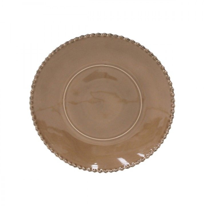 CHARGER PLATE 33CM PEARL COCOA