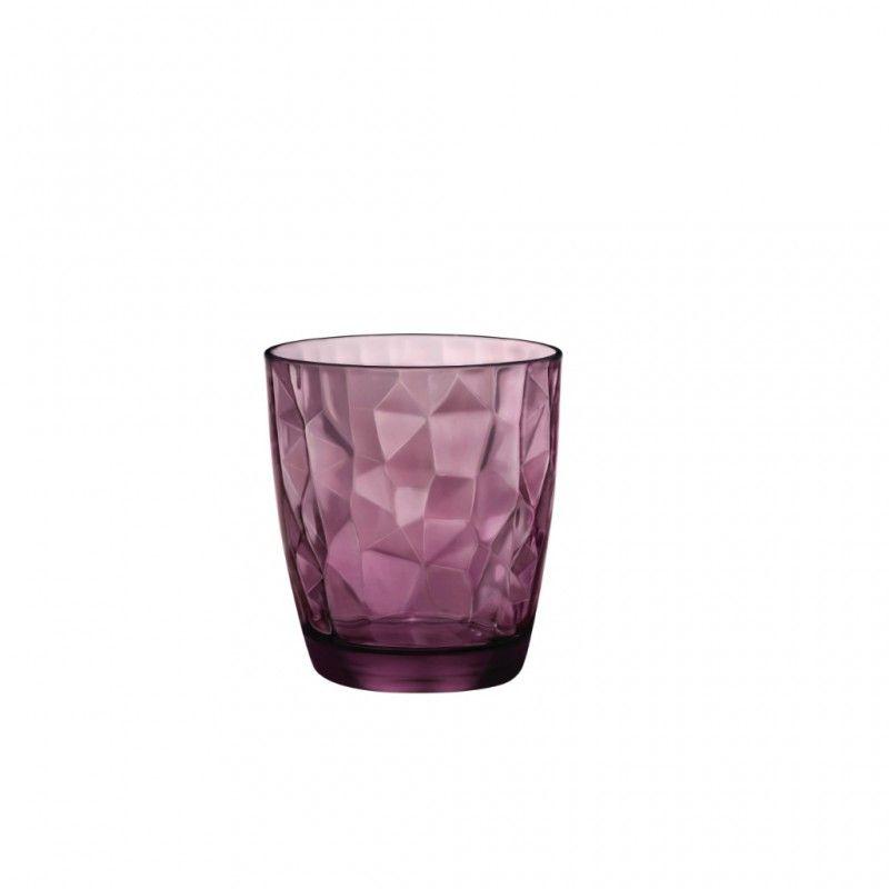 Conj. 3 Copos Baixo Diamond Bordeaux