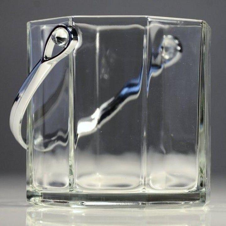 Balde Gelo de Vidro com asa inox Octime