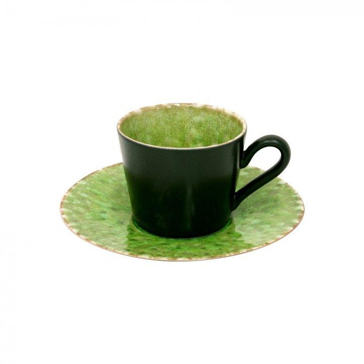 TEA CUP & SAUCER 18CL RIVIERA TOMATE