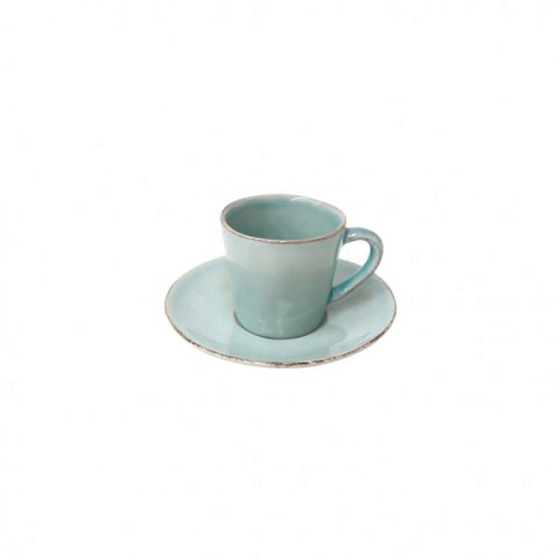 COFFEE CUP & SAUCER 7CL NOVA TURQUOISE