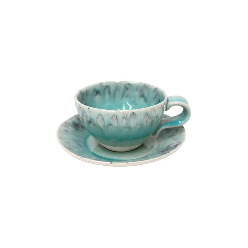 Tea cup and saucer 25CL Madeira Azul