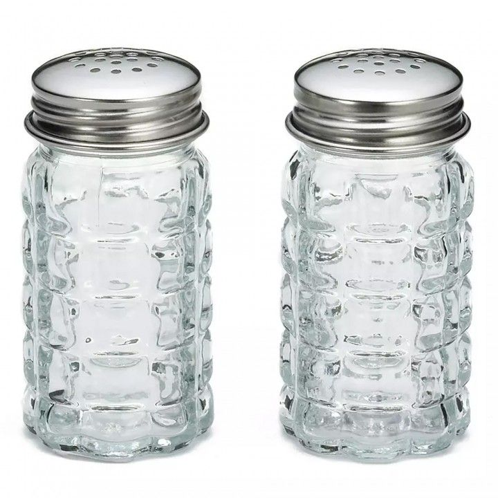 Nostalgia Salt & Pepper Shakers, 4.5CL SS/Glass 163S&P-2